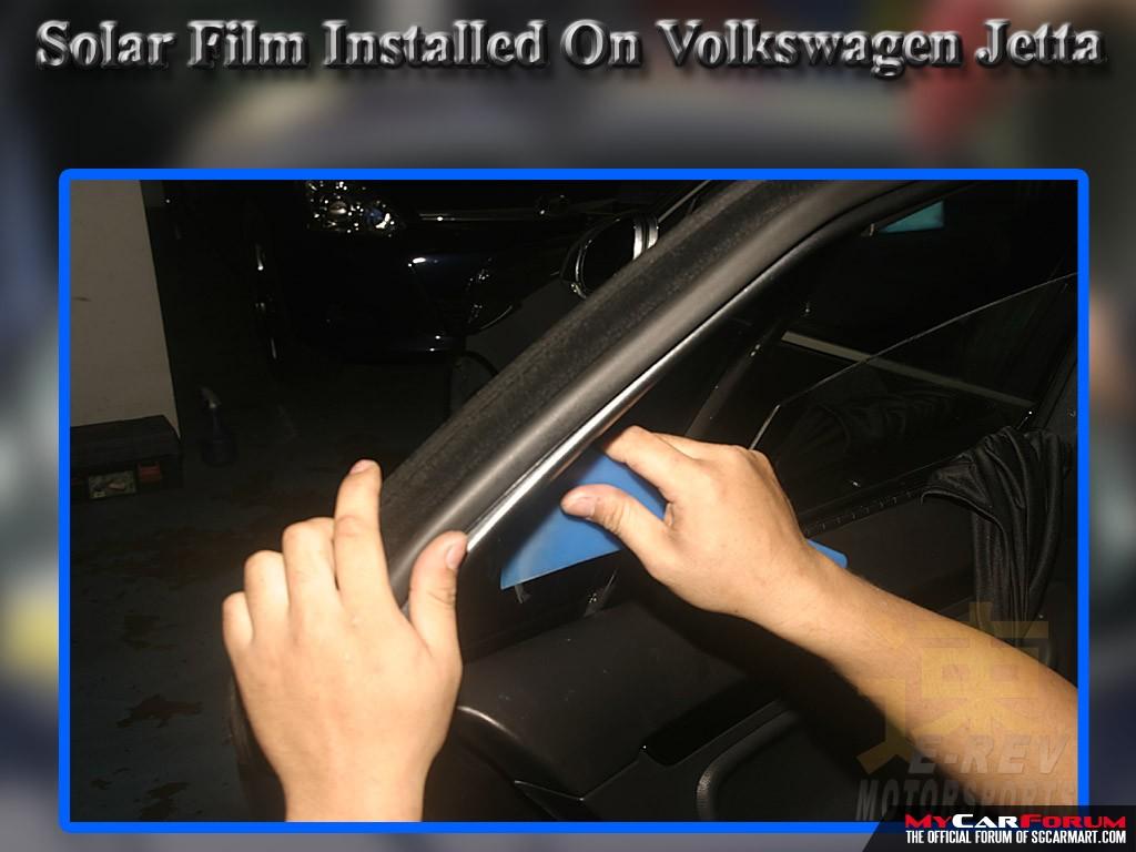 Volkswagen Jetta Solar Film Installation