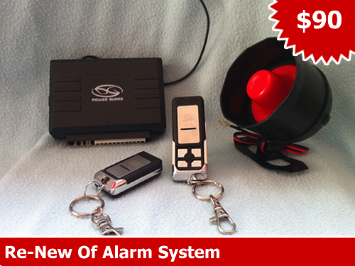 Car Remote Alarm System With On-Site Installation