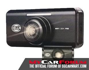 HELLA DR820 2-Channel Full HD WiFi Car Camera