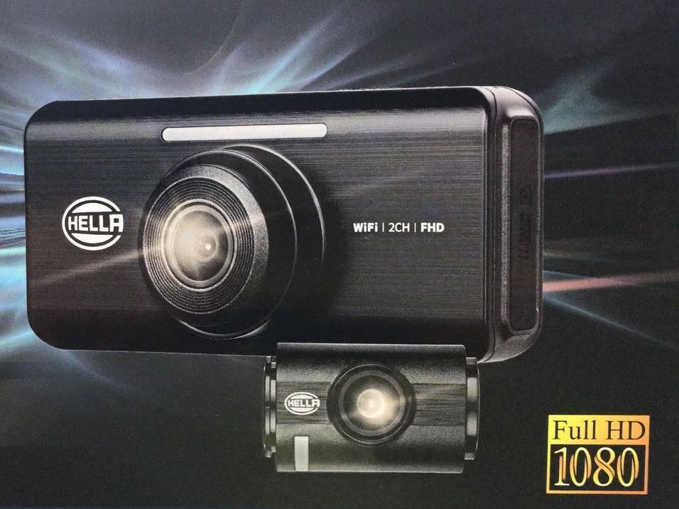 Hella DR820 Full HD 2-CH Night Vision With WIFI Car Dash Camera