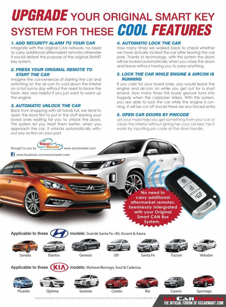 Original Kia /  Hyundai Remote Car Key System (Add On Remote Key / Turbo Timer)