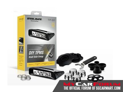 Steelmate TPMS TP-S1 Small Solar Energy Tyre Pressure Monitoring System