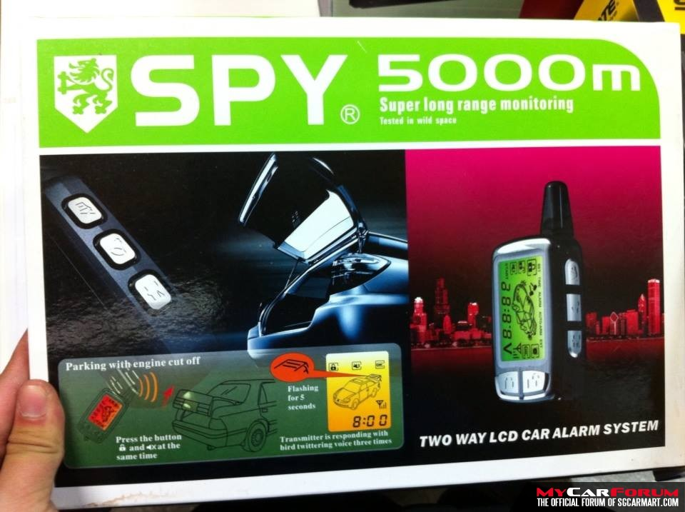 Spy Two Way LCD Car Alarm System With Full Monitoring & Remote Engine Start