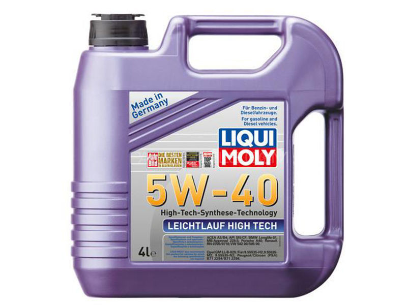 Liqui Moly Leichtlauf High Tech 5W40 / Special Tec 5W30 4L Vehicle Servicing Package