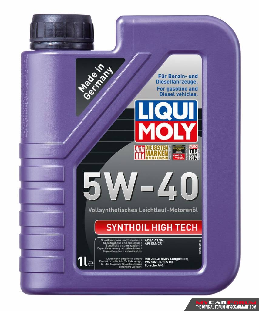 liqui moly synthoil high tech 5w40 vehi for sale mcf. Black Bedroom Furniture Sets. Home Design Ideas