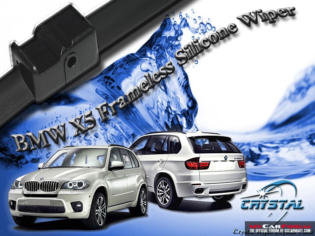BMW X5 Crystal Frameless Silicone Wiper