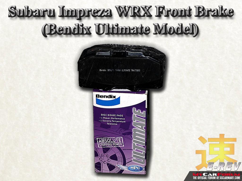 Subaru Impreza WRX Bendix Ultimate Brake Pad
