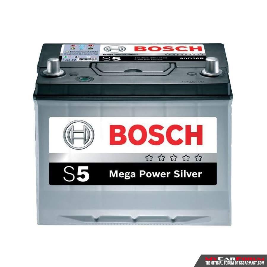 Bosch S5 Mega Power Silver DIN 60 Battery For Sale   MCF Marketplace