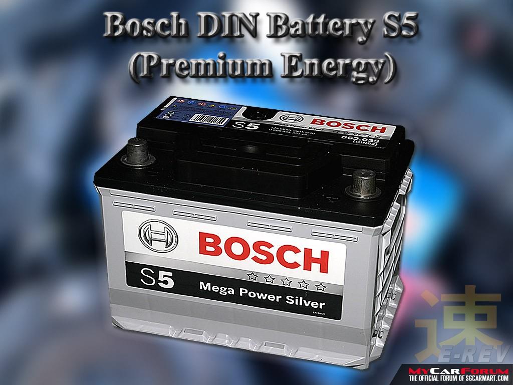 Bosch S5 Maintenance Free DIN Battery