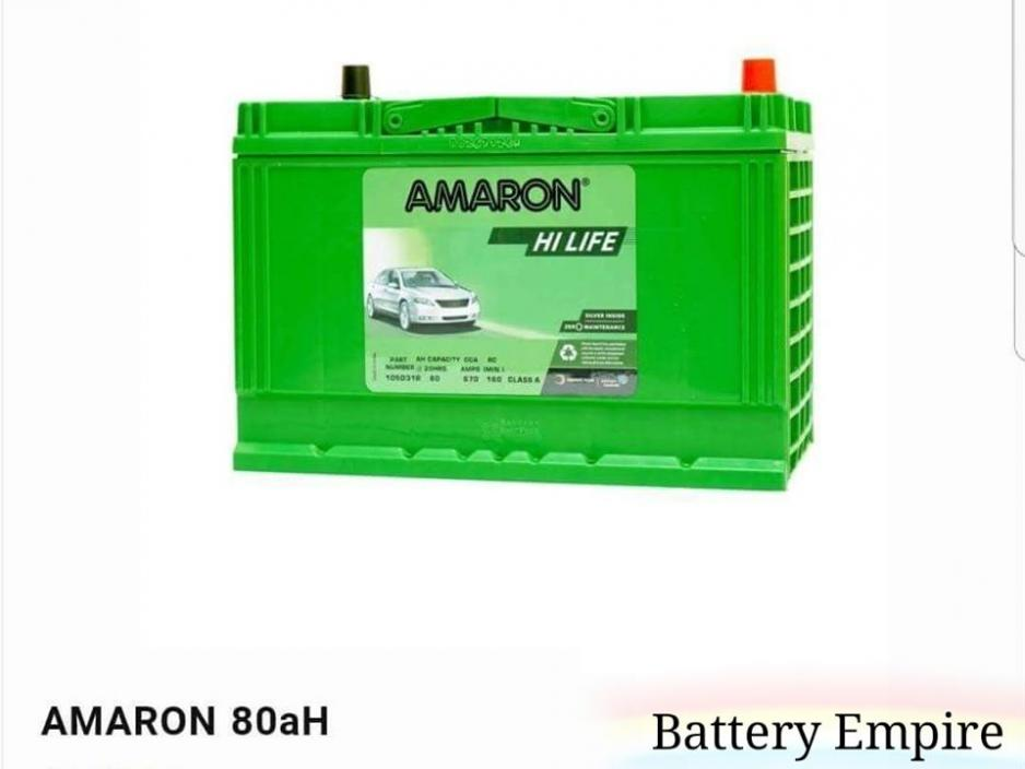 Amaron Hi-Life 80ah(105D31L/R) Long Lasting Maintenance Free Car Battery