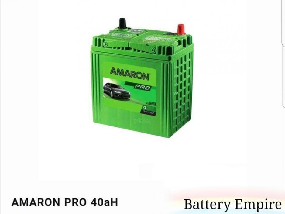Amaron Pro 40ah (50B19L) Long Lasting Maintenance Free Car Battery