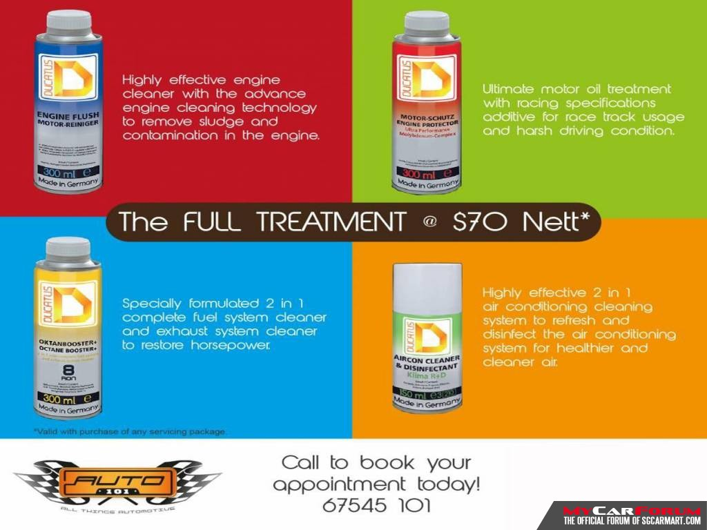 Ducatus Engine Flush Engine Treatment (With Engine Flush, Engine Protector, Octane Booster & Aircon Disinfectant)