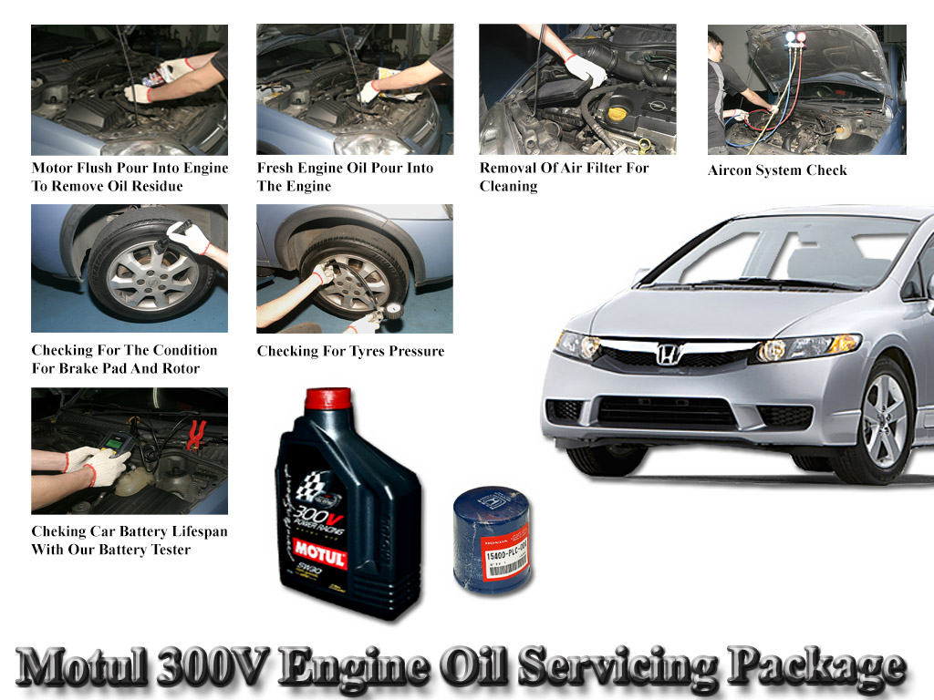 Honda Civic FD Motul 300V Power Racing 5W-30 Vehicle Servicing