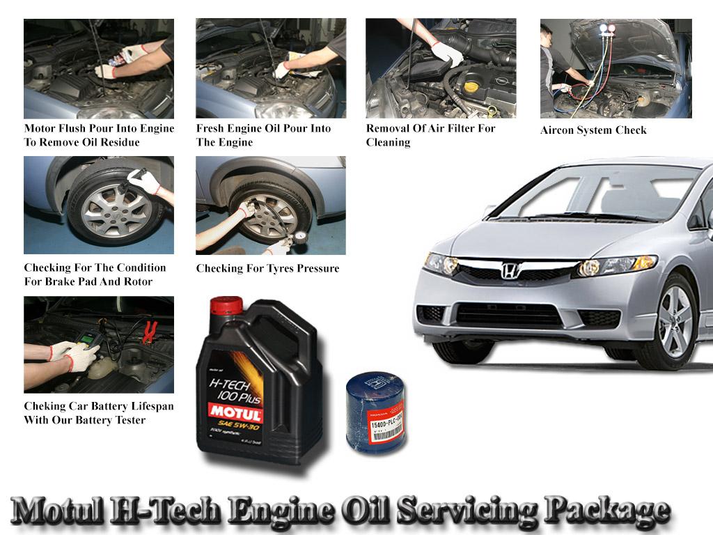 Honda Civic FD Motul H-Tech 100 Plus 5W30 Engine Oil Servicing