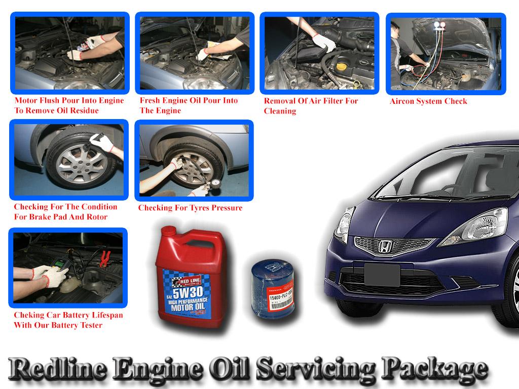 Honda Fit 2008- 2012 Redline Engine Oil Servicing Package