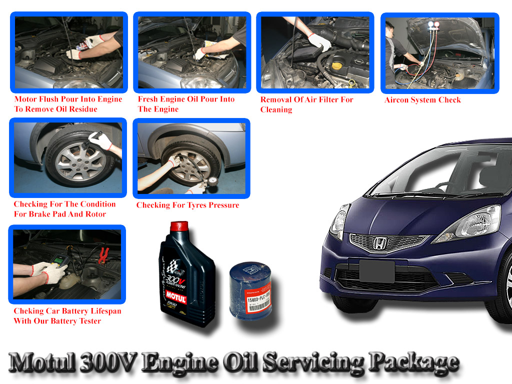 Honda Fit 2008 Motul 300V Power Racing 5W30 Servicing Package