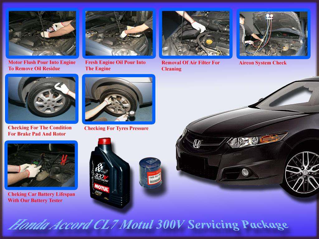 Honda Accord CL7 Motul 300V Power Racing 5W-30 Vehicle Servicing