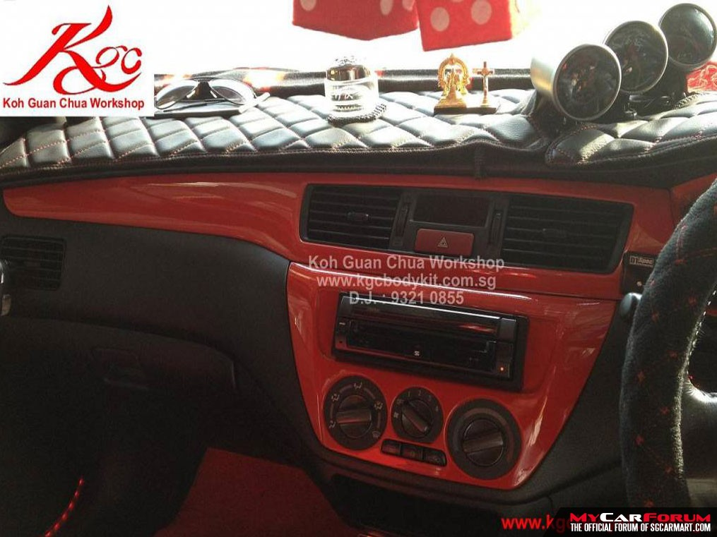 Interior Console Spray Painting Service