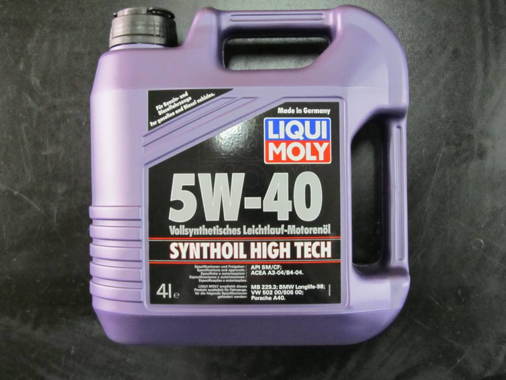 Liqui Moly Synthoil High Tech 5W-40 Servicing Package