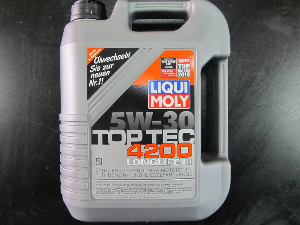 liqui moly top tec 4200 5w 30 5l servic for sale mcf. Black Bedroom Furniture Sets. Home Design Ideas