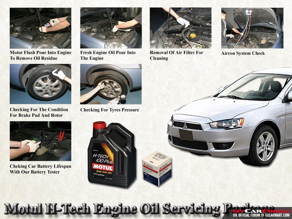 Mitsubishi Lancer EX Motul H-Tech Engine Oil Servicing Package