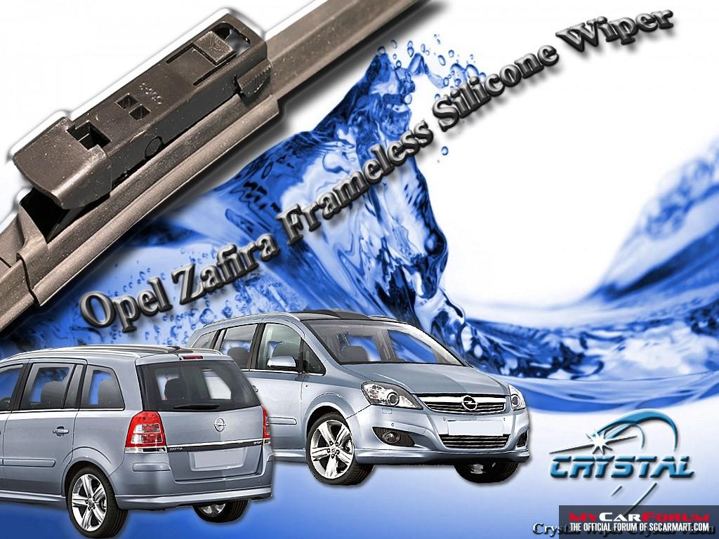 Opel Zafira Crystal Frameless Silicone Wiper