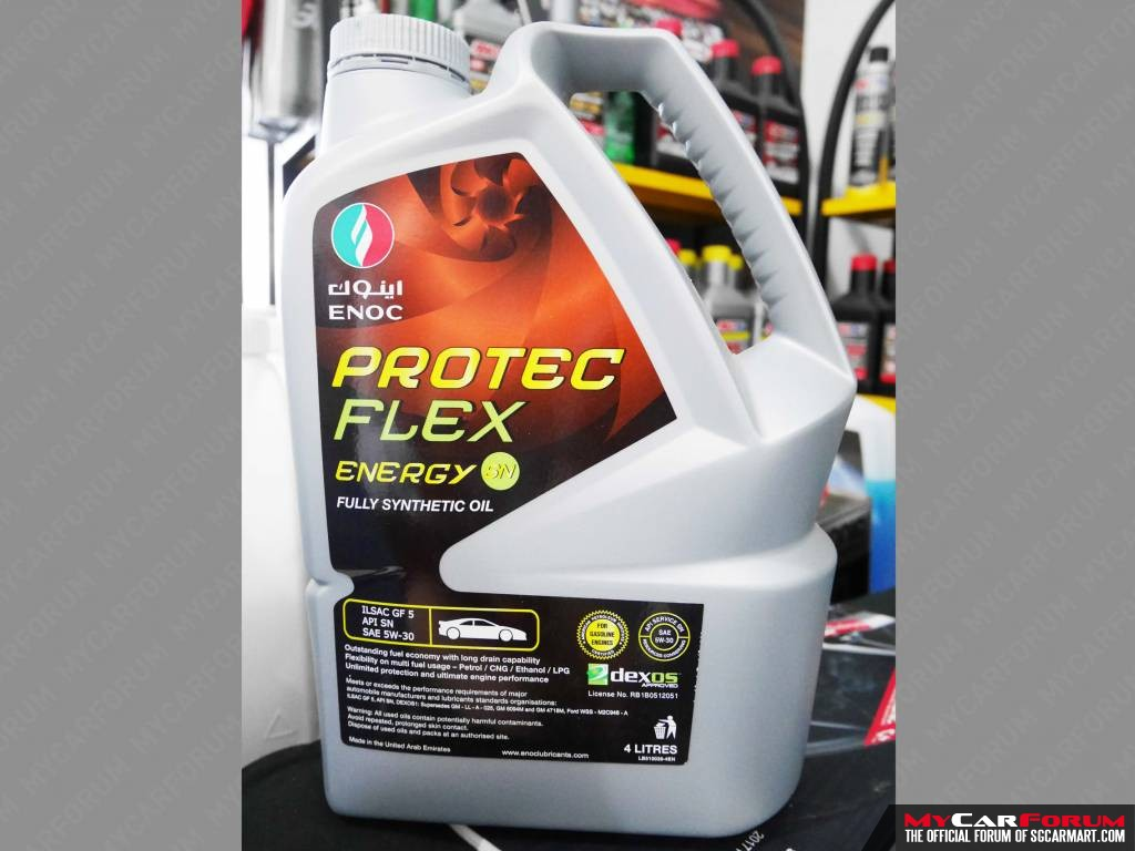 ENOC Protec Flex Energy SN 5W30 Vehicle Servicing at $88)