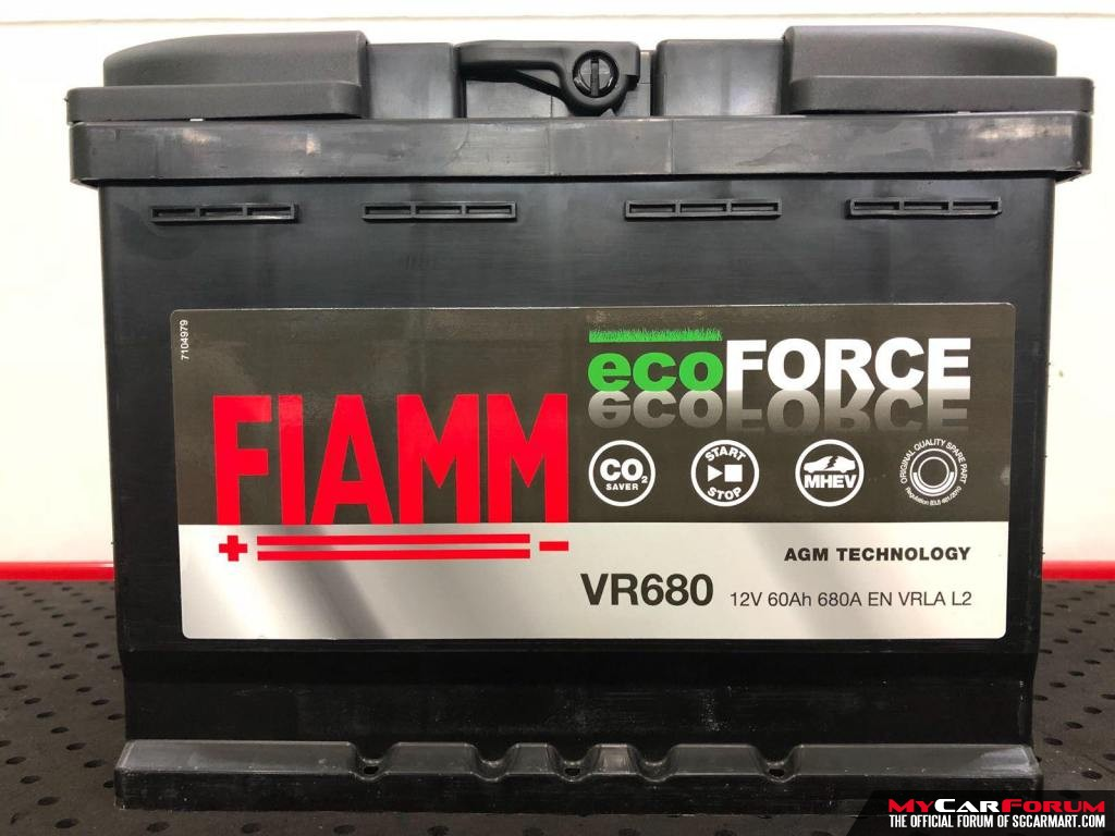 Fiamm Ecoforce AGM Battery VR680