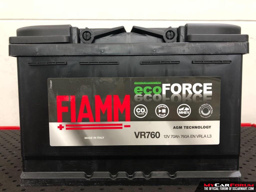 Fiamm Ecoforce AGM Battery VR760