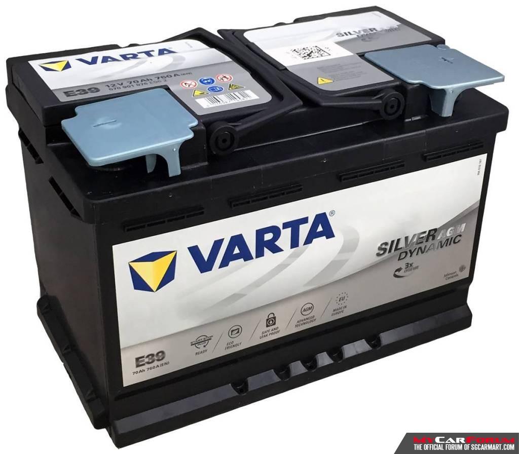 Varta Silver Dynamic Car Battery For Continental Cars