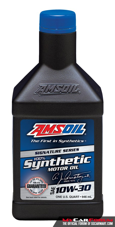 AMSOIL Signature Series 100% Synthetic 10W30 (ATM) Vehicle Servicing