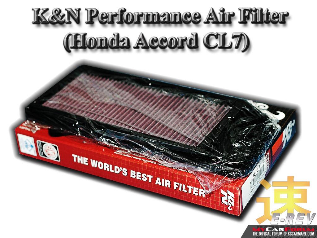 Honda Accord CL7 K & N Air Filter