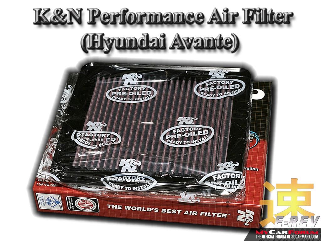 Hyundai Avante K & N Performance Air Filter