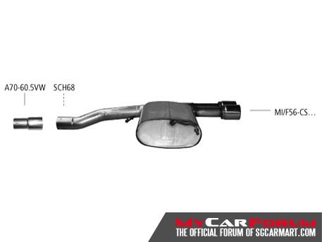 Bastuck MINI F56 Cooper S Sports Exhausts