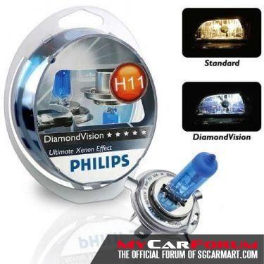 Philips Diamond Vision Headlight Bulb Set