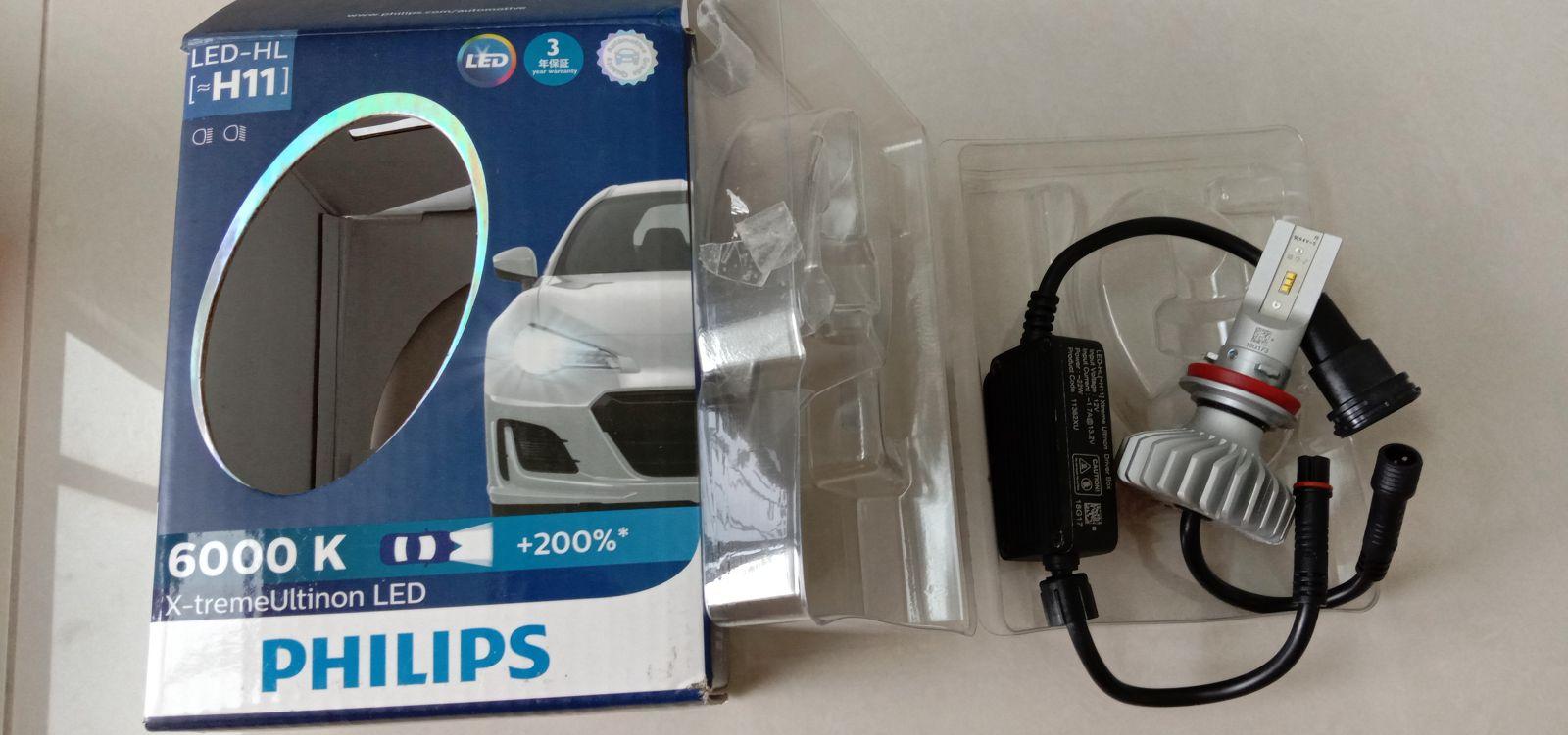 Philips X-treme Ultinon LED H11 6000K LED Light Bulb