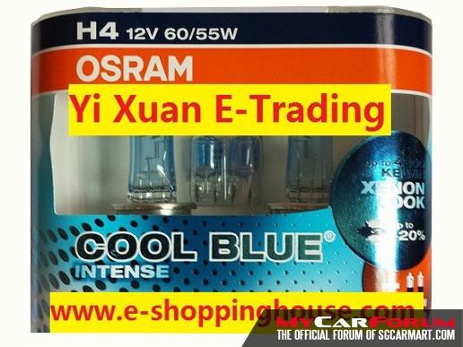Osram Cool Blue Intense Halogen Light Bulb (H4)