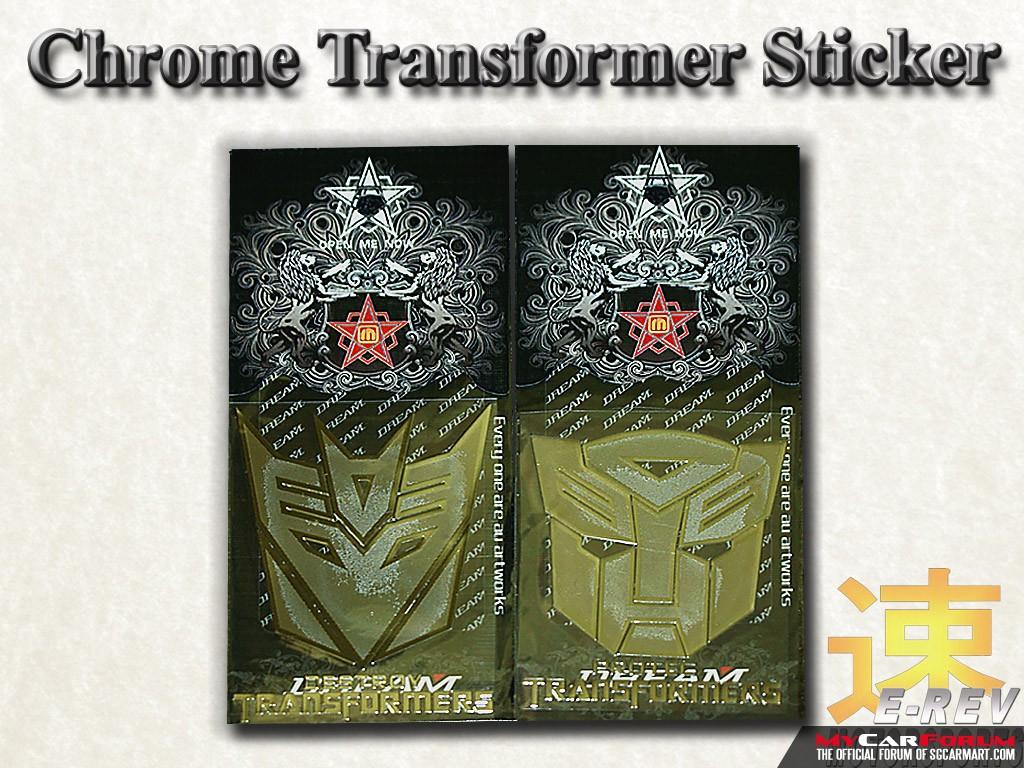 Chrome Transformer Stickers