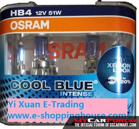Osram Cool Blue Intense Halogen Light Bulb (HB4)