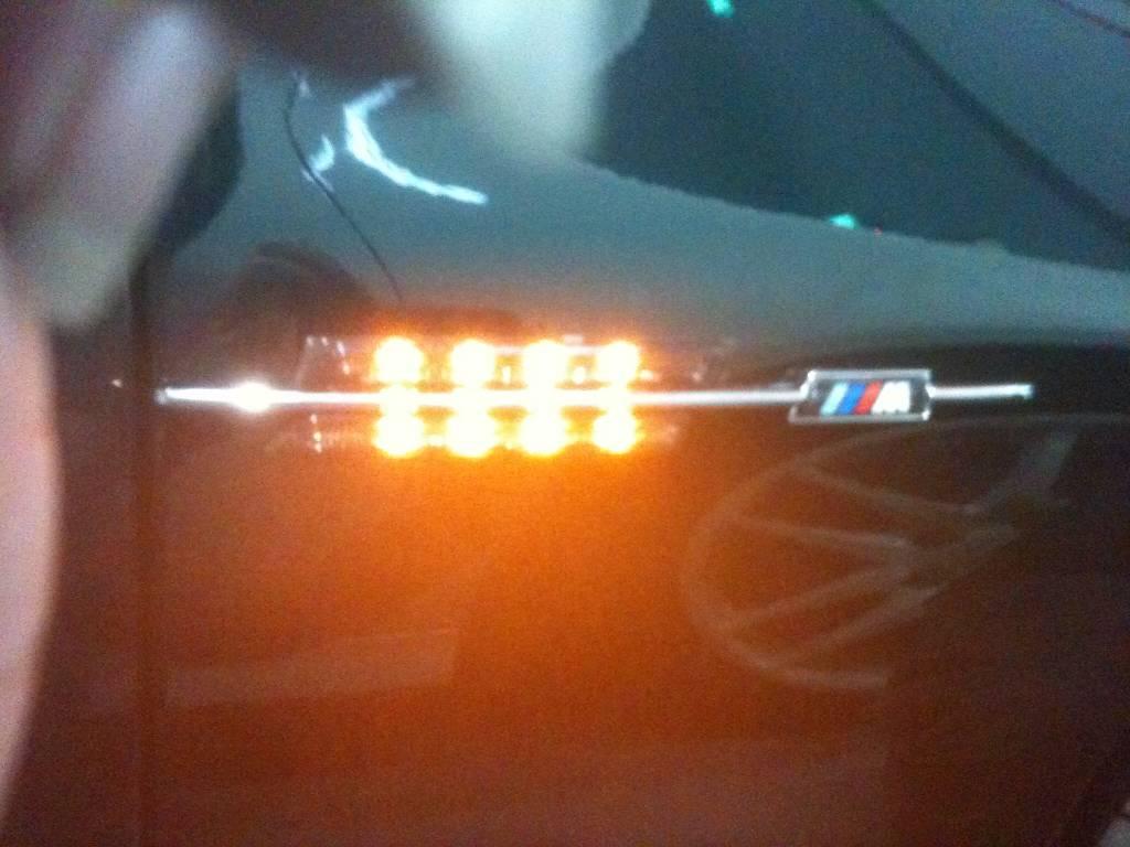 Crystal and Smoke LED Fender Side Marker
