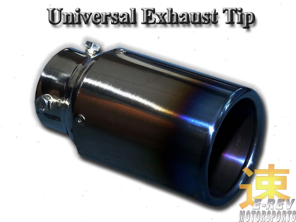Exhaust Muffler Tip (With Titanium Look Coating)