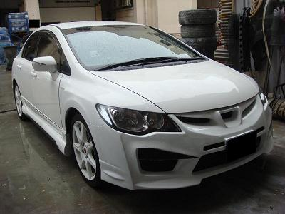 Style Honda Civic With Complete 8 PCS Bodykit