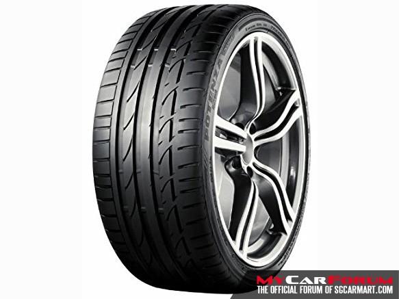 """Bridgestone Potenza S001 17"""" Tyre"""