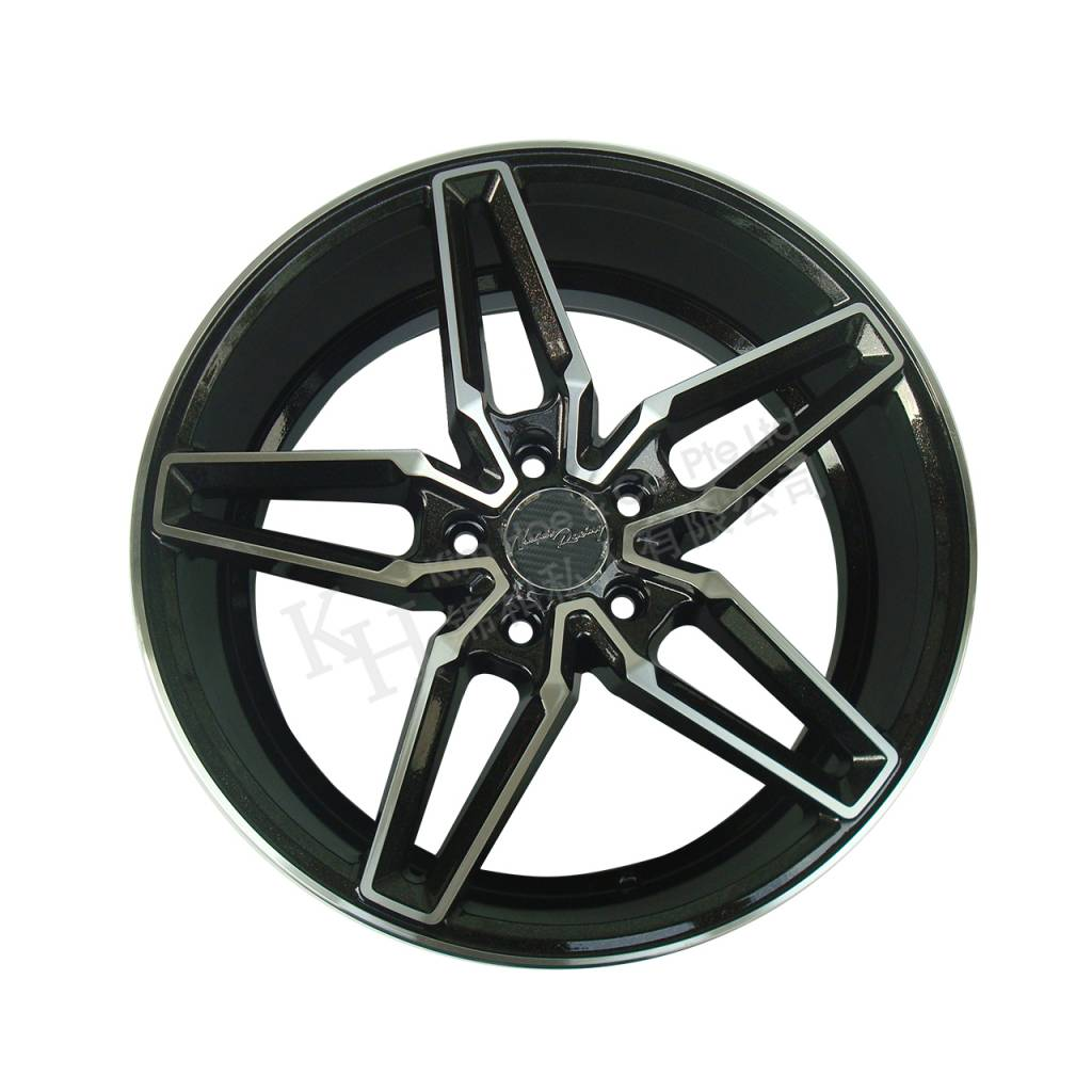 "Glossy Black Double 5-Spokes Replica AMG 18"" Rims"