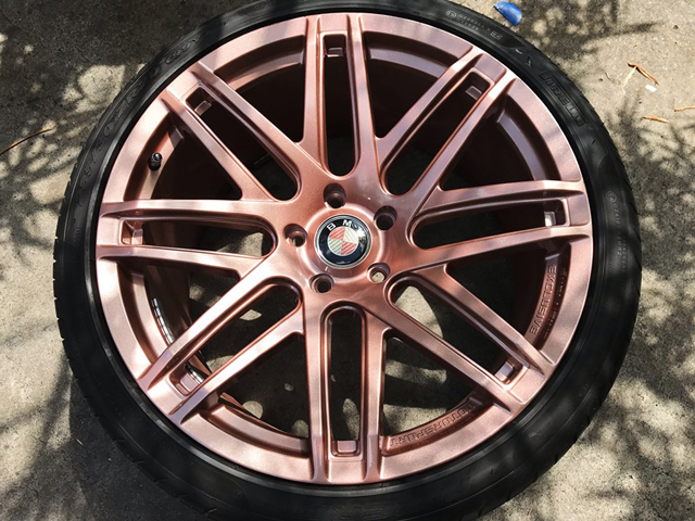 Respray of Whole Sports Rims