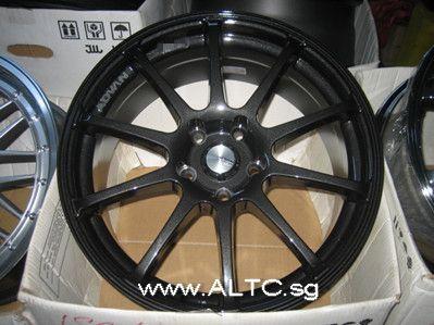 Black Chrome Advan Racing RS 18