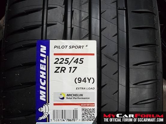 """Michelin Pilot Sport 4 17"""" / 19"""" Tyre"""