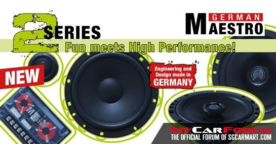 German Maestro 2S 6512 2-Way Component System (With AC 6508 2-Way Coaxial System)
