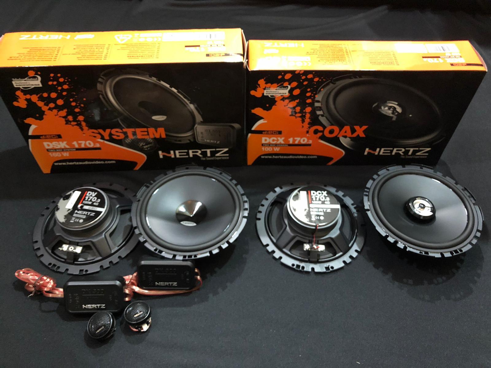 Hertz DSK & DCX 170.3 Coaxial Speakers (Package A)