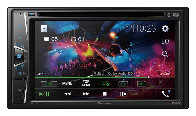 "6.2""  Pioneer AVH-G225BT DVD Player (With Reverse Camera)"